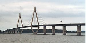 Autobahnbrücke zwischen Falster und Seeland