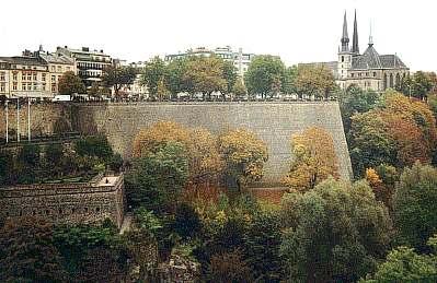 Luxemburg - Blick auf das Stadtzentrum