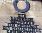 Inschrift an der Rappbodetalsperre