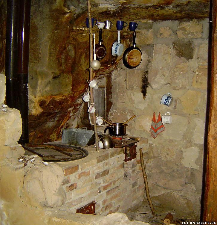 In der Küche einer Höhlenwohnung