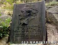 Der Goethefelsen im Bodetal
