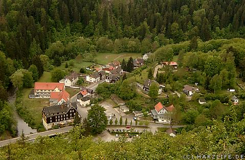 Blick auf Treseburg