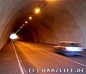 Der Tunnel an der Rappbodetalsperre