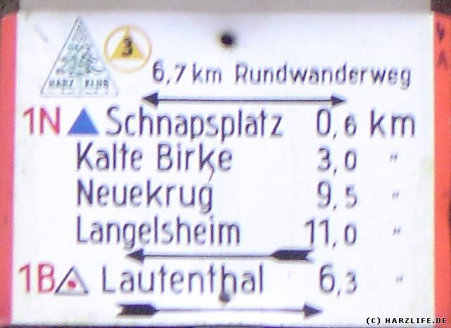 noch 600 Meter bis zum Schnapsplatz