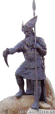 Wotan mit seinem Speer Gungnir