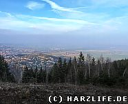 Aussicht vom Ostlandkreuz auf Bad Harzburg