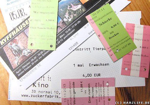 Fahrkarten und Eintrittspreise