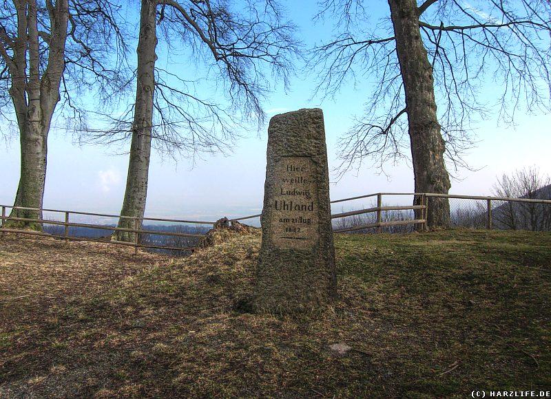 Gedenkstein für Ludwig Uhland