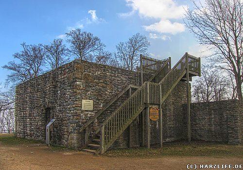 Die Burgruine Harzburg