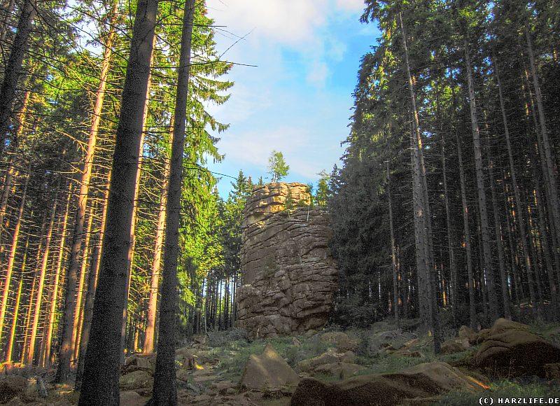 Blick zur Feuersteinklippe