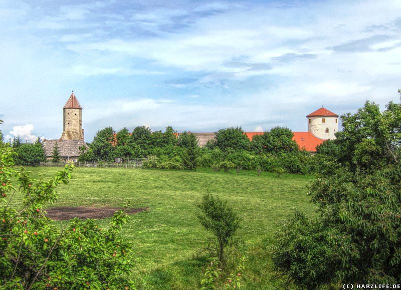 Burg Freckleben - Blick zur Kernburg