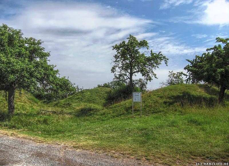 Burg Freckleben - Die frühmittelalterlichen Wall-Graben-Anlagen