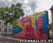 Kunstwerk am Straßenrand