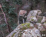 Die Felsen der Teufelskanzel