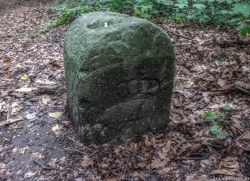 Alter Grenzstein zwischen dem Fürstentum Anhalt und dem Königreich Preußen