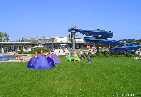 Das Freizeitbad Albertine in Harzgerode