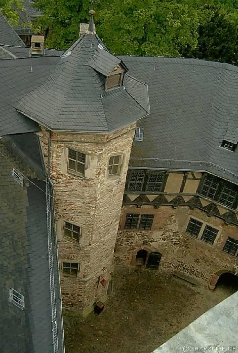 Burghof der Burg Falkenstein