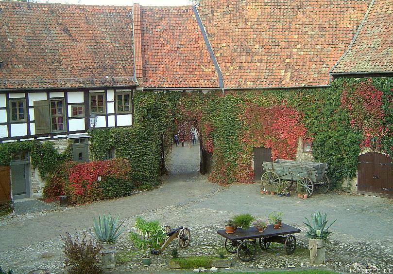Der malerische Innenhof