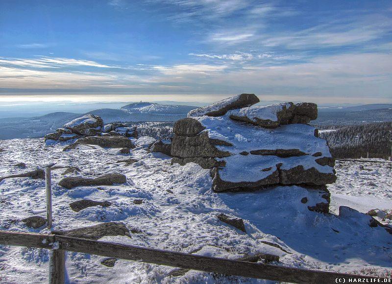 Hexenaltar und Teufelskanzel im Winter