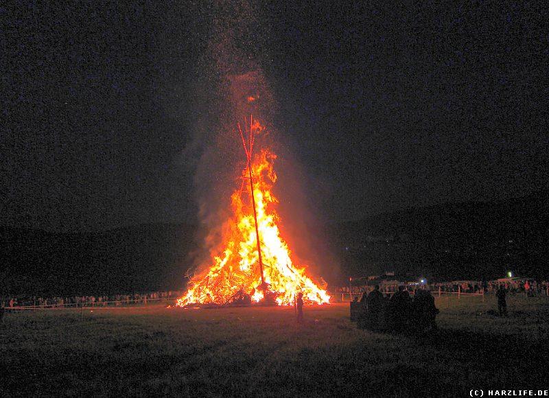Das Osterfeuer 2011 in Stecklenberg