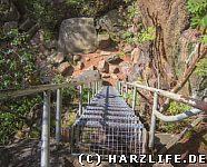 Ottofelsen mit steiler Treppe