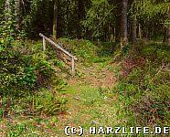 kleine Treppe am Wanderweg
