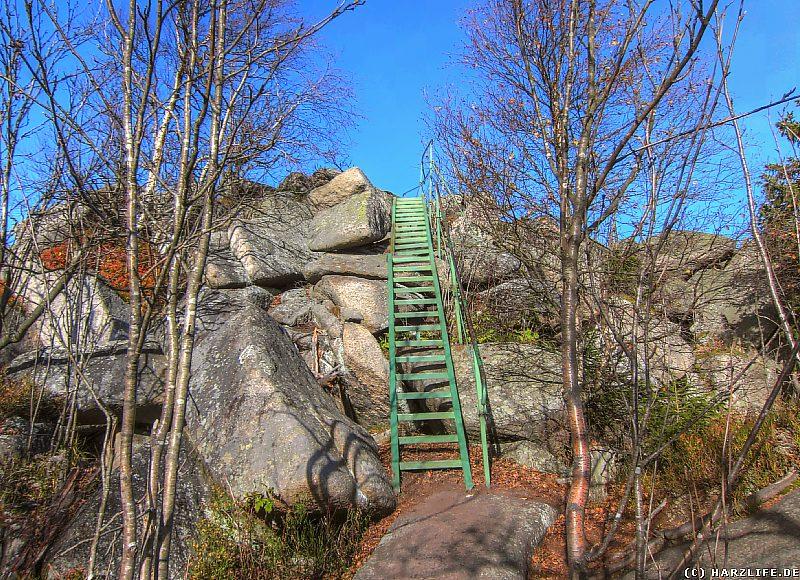 Der Aufstieg zur Leistenklippe