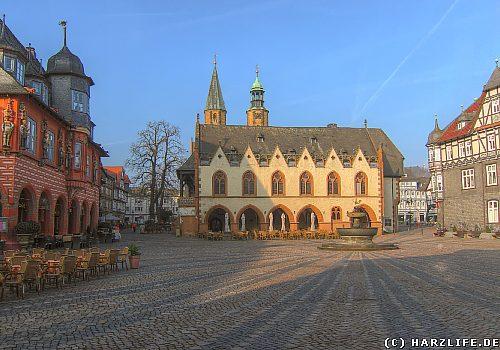 Goslar - Marktplatz mit Rathaus