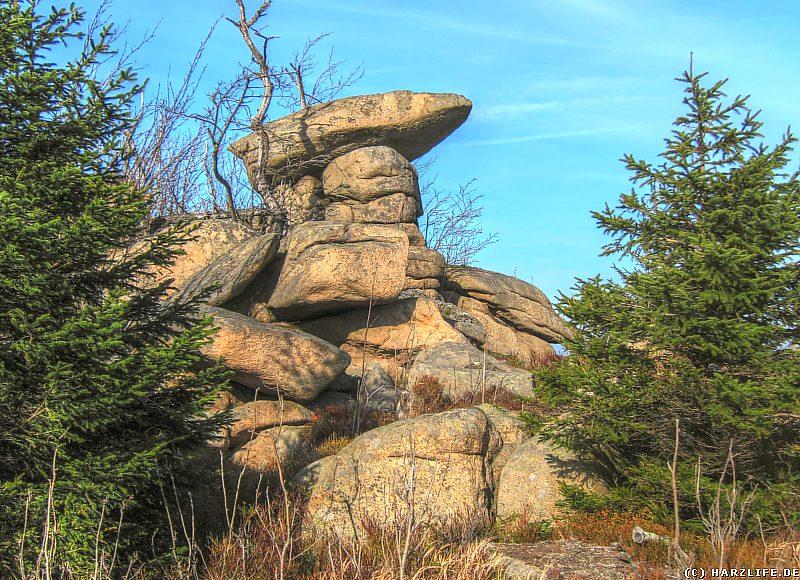 Eine bizarre Felsformation bei den Grenzklippen