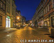 Wernigerode - Breite Straße bei Nacht