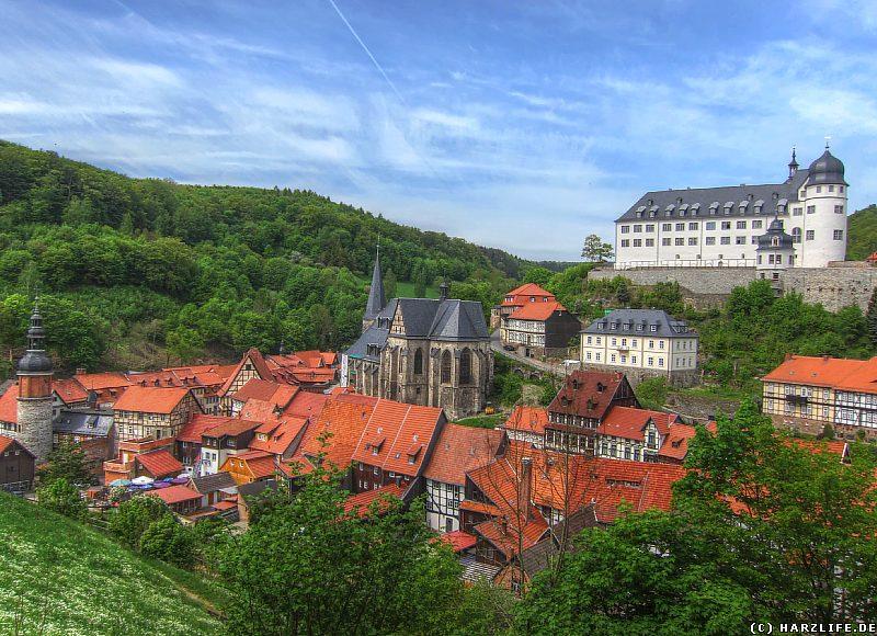 Blick auf Stolberg im Harz