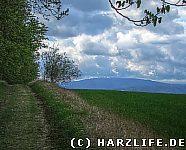 Blick vom Fallstein zum Brocken