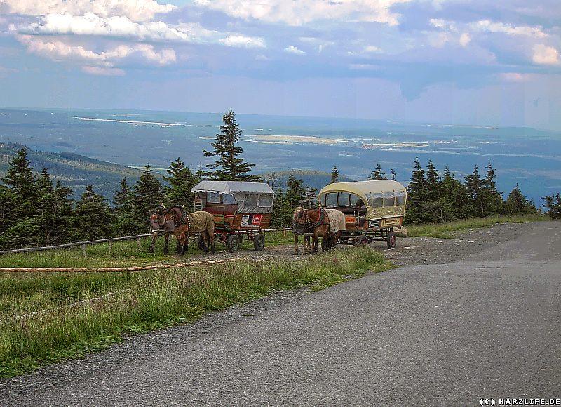 Pferdekutschen auf dem Brocken