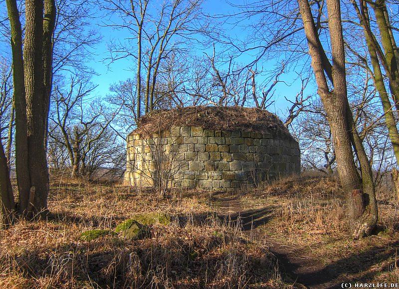 Burgruine Anhalt - Der Stumpf des Bergfriedes