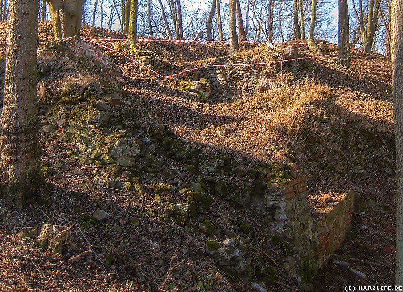 Burgruine Anhalt - Die Reste des Kammertores