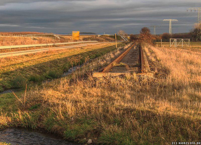 Das Gleis der ''Quäke'' nordöstlich von Blankenburg