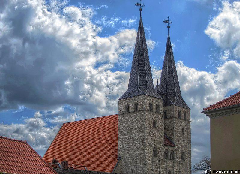 Die Türme der St.-Stephani-Kirche in Osterwieck