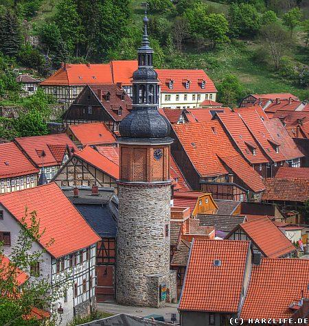 Der Saigerturm in Stolberg/Harz