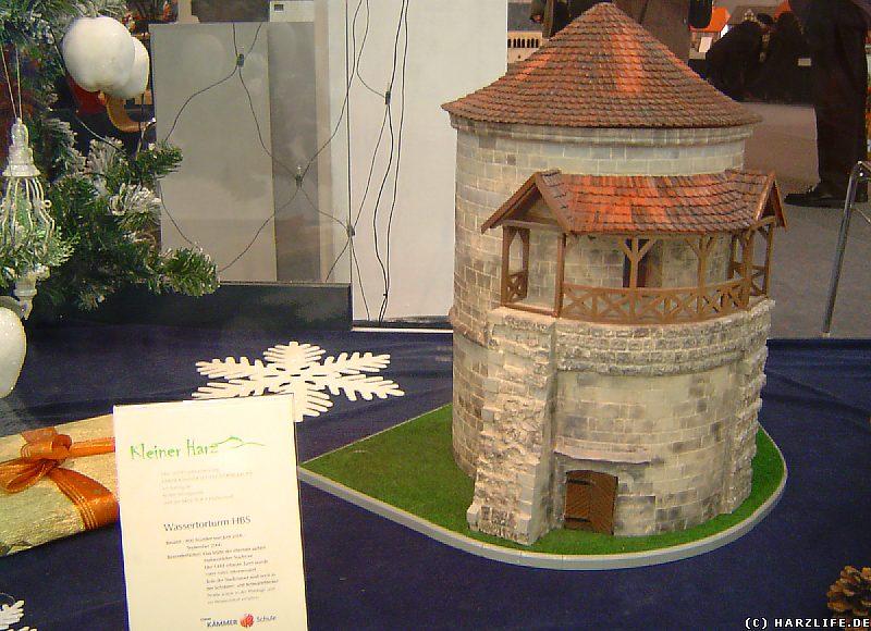 Das Modell des Wassertorturms in Halberstadt