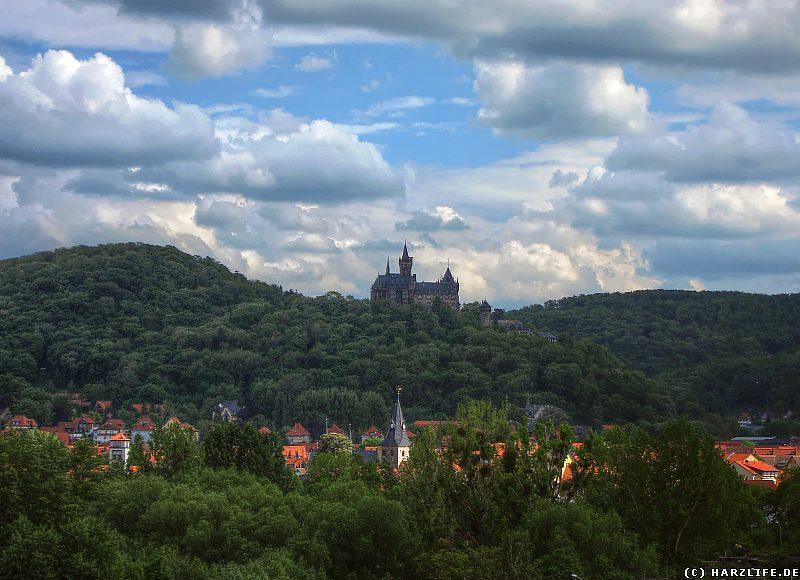 Aussicht auf Schloß und Stadt Wernigerode