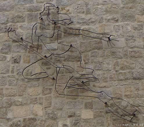 Die Hexe an der Wand der Brockenherberge