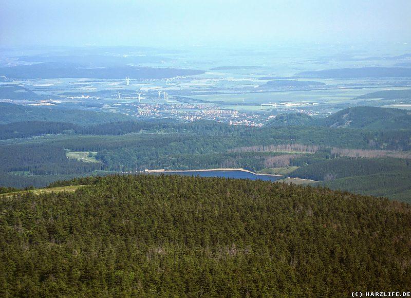 Aussicht auf den Eckerstausee und Bad Harzburg