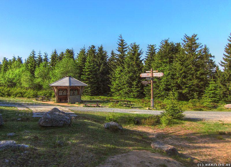 Die Schutzhütte am Dreieckigen Pfahl