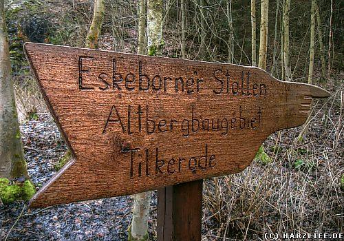 Im Altbergbaugebiet Tilkerode