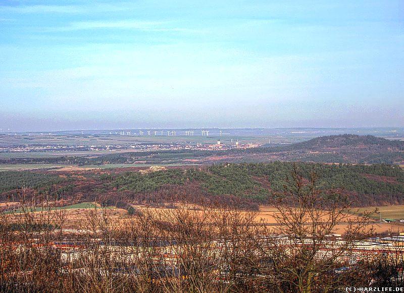 Aussicht vom Ziegenkopf auf das nördliche Harzvorland