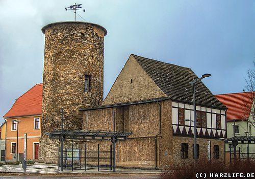 Der Bergfried der Burg Hettstedt