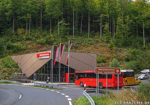 Eingangsgebäude der Iberger Tropfsteinhöhle