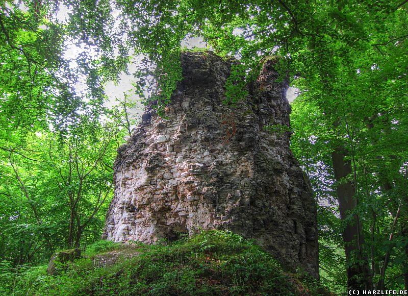 Der Bergfried der Burgruine Questenburg