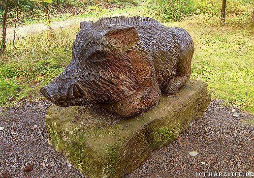Am Schweinebraten bei Bad Grund