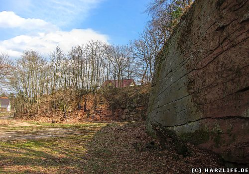 Im ehemaligen Mühlsteinbruch in Siebigerode